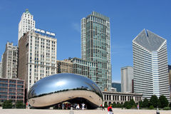 Escultura do feijão em Chicago Imagem de Stock
