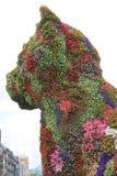 Escultura do filhote de cachorro, Bilbao (país Basque) Imagens de Stock Royalty Free