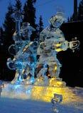 Escultura do gelo da faixa da pimenta de Sargent Foto de Stock