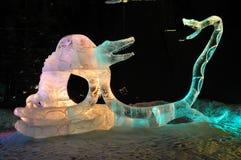 Escultura do gelo do aperto da morte Foto de Stock Royalty Free