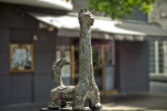 Escultura do girafa do gato, San Juan velho, Porto Rico Fotos de Stock