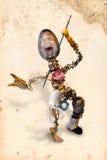 Escultura do homem do fio Imagem de Stock