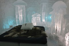 Escultura do hotel do gelo Imagens de Stock Royalty Free