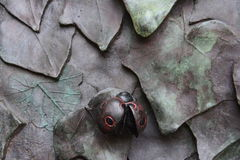 Escultura do joaninha Fotos de Stock Royalty Free