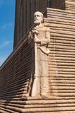 Escultura do líder Piet Retief de Voortrekker no Voortrekker M fotografia de stock royalty free