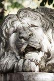 Escultura do leão, fim acima Foto de Stock Royalty Free