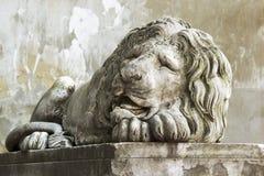 Escultura do leão, fim acima Fotos de Stock