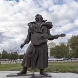 Escultura do músico na sala de concertos, yekaterinburg, Federação Russa Foto de Stock