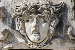 Escultura do Medusa do templo de Apollo Fotos de Stock
