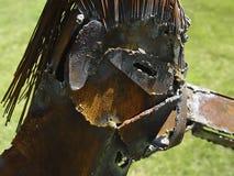 Escultura do metal imagens de stock royalty free