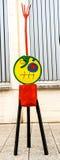 Escultura do museu de Miro imagens de stock royalty free