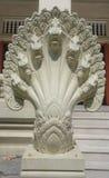 Escultura do Naga do clássico tailandês do estilo fotos de stock