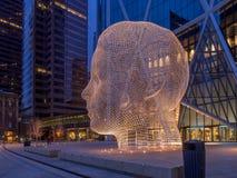Escultura do país das maravilhas, Calgary Imagens de Stock Royalty Free