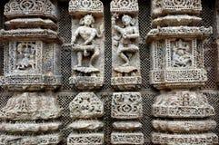 Escultura do templo. Fotos de Stock Royalty Free