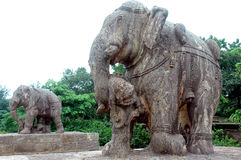 Escultura do templo de Konarak-Orrisa. Imagem de Stock