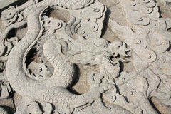 Escultura dos dragões Fotos de Stock