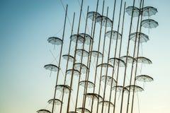 Escultura dos guarda-chuvas de Tessalónica Imagens de Stock Royalty Free