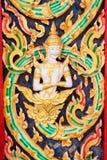 escultura dourada do ângulo no templo público tailandês Imagens de Stock Royalty Free