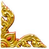 Escultura dourada do relevo alto Imagem de Stock Royalty Free