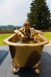 Escultura dourada no forte di Belvedere em Florença, Itália fotos de stock