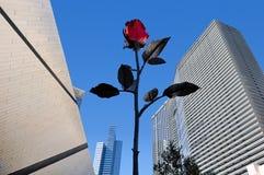 Escultura e arquitetura de Rosa Imagens de Stock