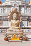 A escultura e sete de Buddha dirigiram a cobra Foto de Stock Royalty Free