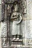 Escultura em Angkor Wat, Cambodia Fotos de Stock