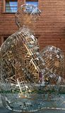 Escultura em Cremona Itália fotografia de stock