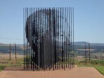 Escultura em Nelson Mandela Capture Site, África do Sul Fotografia de Stock Royalty Free