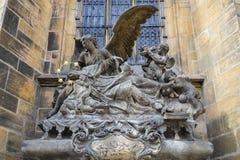 Escultura em Praga Foto de Stock Royalty Free