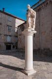 Escultura em Trogir Fotos de Stock Royalty Free