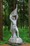 Escultura en el parque de Grutas cerca de la ciudad de Druskininkai Fotos de archivo