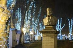 Escultura en el parque de Zrinjevac Fotos de archivo libres de regalías