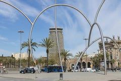 Escultura en el puerto Vell, Barcelona Imágenes de archivo libres de regalías
