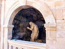 Escultura en el St George Cathedral en Lviv Foto de archivo