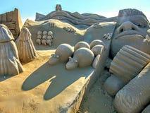 Escultura en la arena imagen de archivo