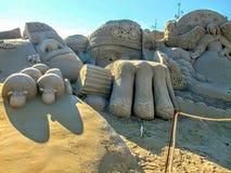 Escultura en la arena fotografía de archivo libre de regalías