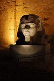 Escultura en la noche Fotos de archivo libres de regalías