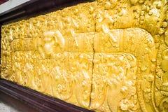 Escultura en la pared del templo en Chiang Mai Thailand Fotografía de archivo libre de regalías