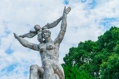 Escultura en parque Imagen de archivo libre de regalías