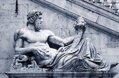 Escultura en Roma Imagen de archivo libre de regalías