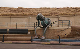 Escultura en Scheveningen, Netherland Fotos de archivo