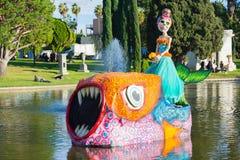 Escultura esquelética en el décimo quinto día anual del festival muerto Fotografía de archivo libre de regalías