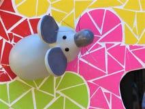 Escultura fantástica de um rato para as fogueiras de Saint John In Alicante Spain imagem de stock