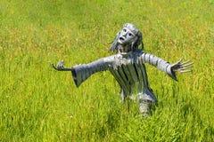 Escultura femenina del metal, Hampton Court, Herefordshire, Inglaterra Imagenes de archivo