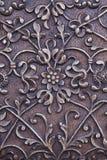 Escultura floral del metal Imágenes de archivo libres de regalías