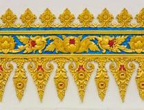 Escultura floral tailandesa Foto de Stock Royalty Free