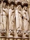 Escultura gótica fotografía de archivo