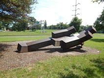 Escultura grande del rectángulo Imagen de archivo libre de regalías