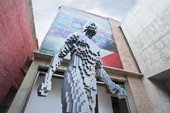 Escultura grande en Dashanzi Art District, Pekín, China Foto de archivo libre de regalías